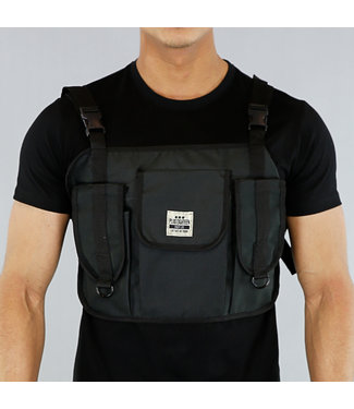 Zwarte Heren Multipocket Tas