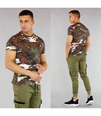 Heren T-Shirt met Leaf Print