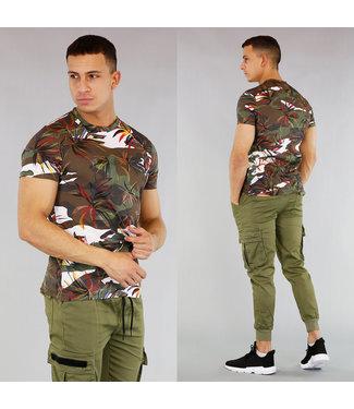 !OP=OP Heren T-Shirt met Leaf Print