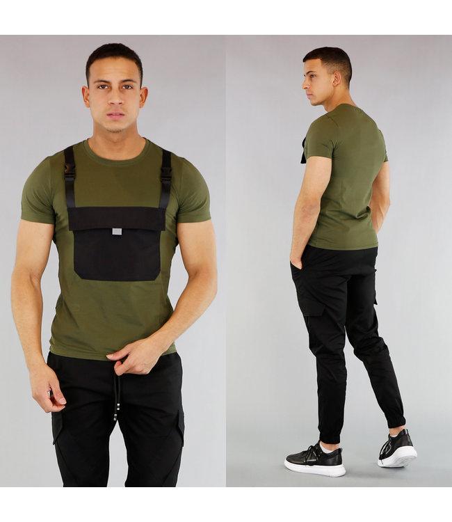 !OP=OP Groen Heren Shirt met Buidelzak