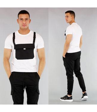 !OP=OP Wit Heren Shirt met Buidelzak