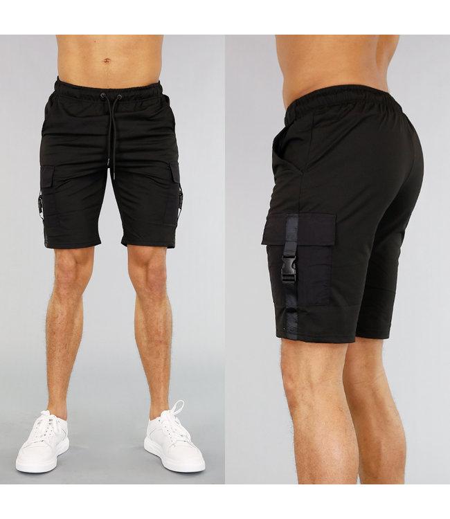 !OP=OP Zwarte Heren Jogger Short