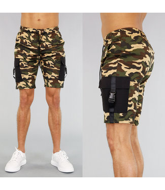 !SALE40 Camouflage Heren Jogger Short