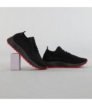 NEW! Comfy Elastische Heren Sneakers Zwart