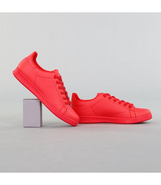 Basic Lage Heren Sneaker Rood