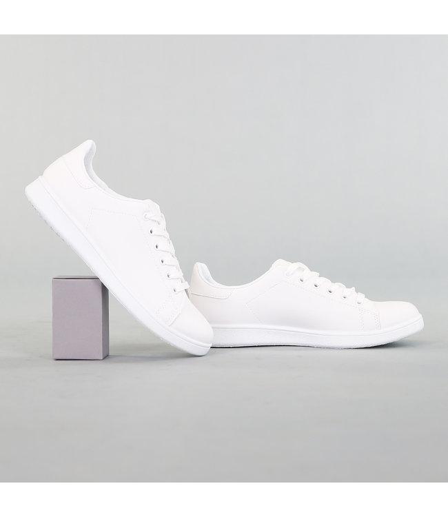 Basic Lage Heren Sneaker Wit