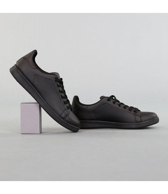 Basic Lage Heren Sneaker Zwart