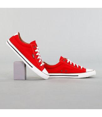 !OP=OP Heren Rode Canvas Sneakers