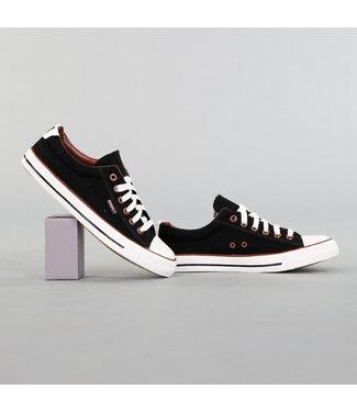!OP=OP Heren Zwarte Canvas Sneakers