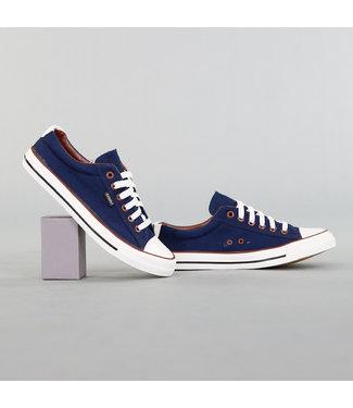 Heren Blauwe Canvas Sneakers