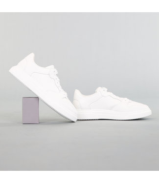 NEW! Basic Witte Heren Sneaker met Dikke Zool