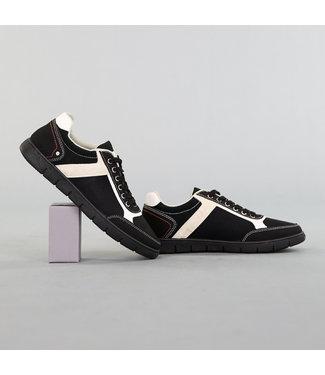 !OP=OP Zwarte Heren Schoenen met Beige Details
