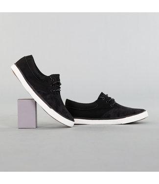 NEW! Lage Zwarte Mannen Sneakers met Suède Look