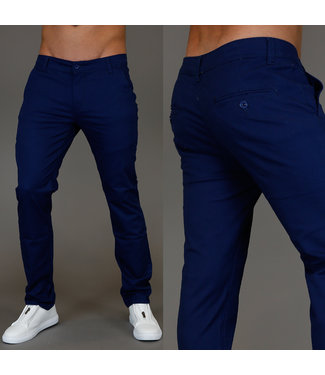 !SALE Casual Navy Heren Broek met Stretch