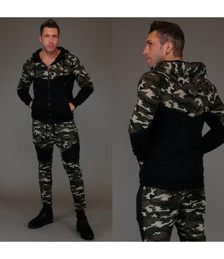 Stoer Army Heren Joggingpak Groen
