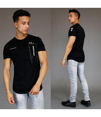 !OP=OP Casual Zwart Heren Shirt met Details