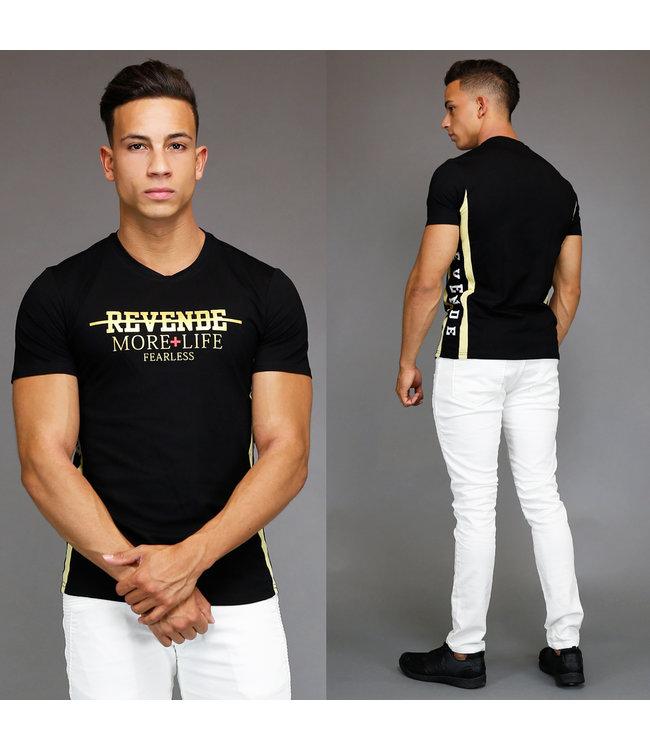 !SALE Zwart/Goud Heren T-Shirt Revende