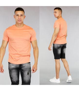 !SALE40 Oranje Katoenen Heren T-Shirt