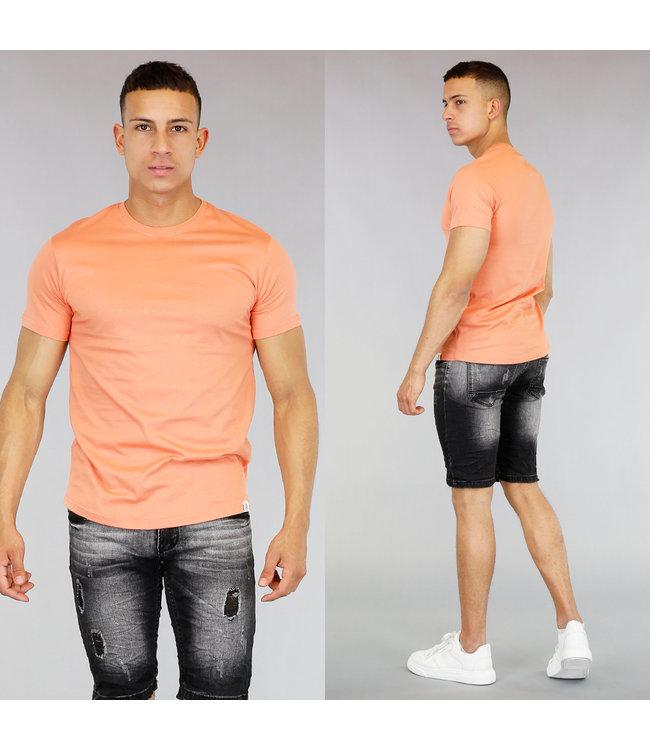 Oranje Katoenen Heren T-Shirt