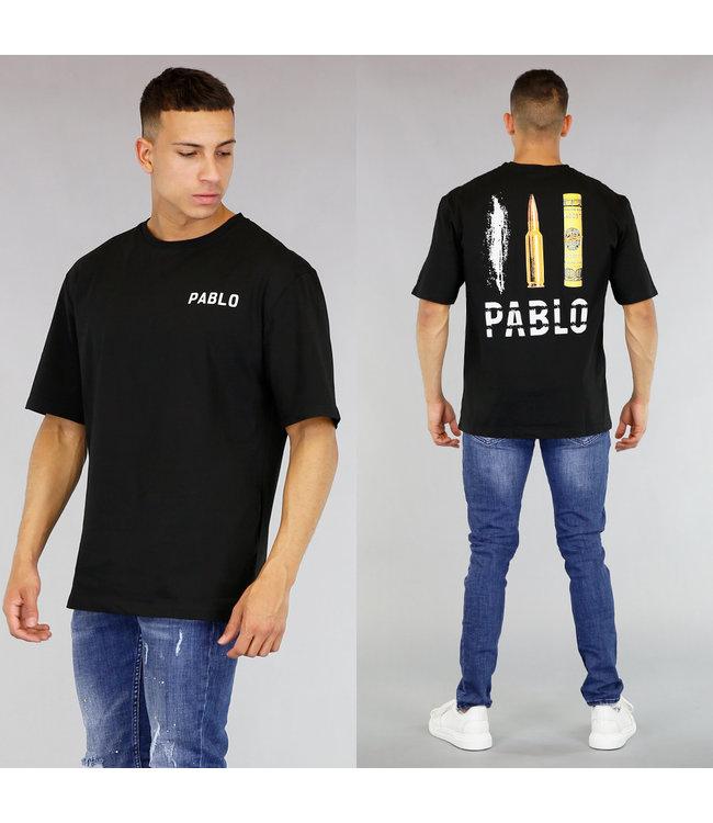Zwart Oversized Pablo Shirt Heren