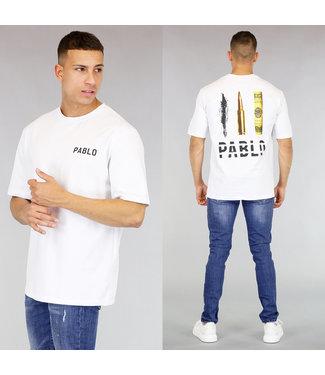 Wit Oversized Pablo Shirt Heren