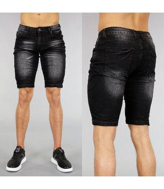 !SALE40 Basic Zwart Heren Short met Wassing