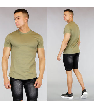 !OP=OP Khaki Katoenen Heren T-Shirt