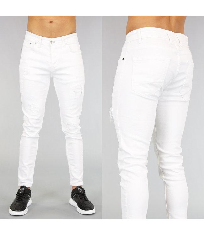 NEW! Witte Heren Jeans met Scheuren