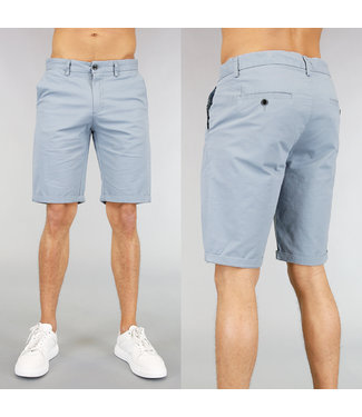 !SALE40 Korte Lichtblauwe Heren Pantalon