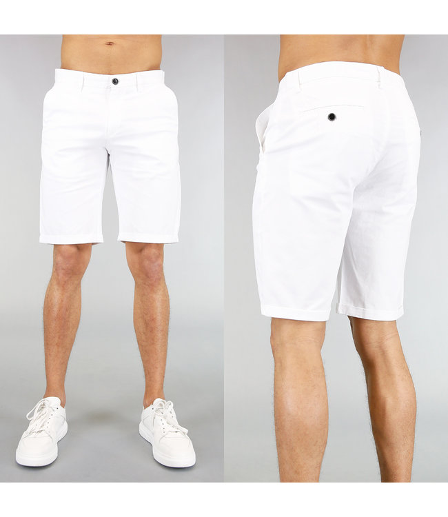 Korte Witte Heren Pantalon