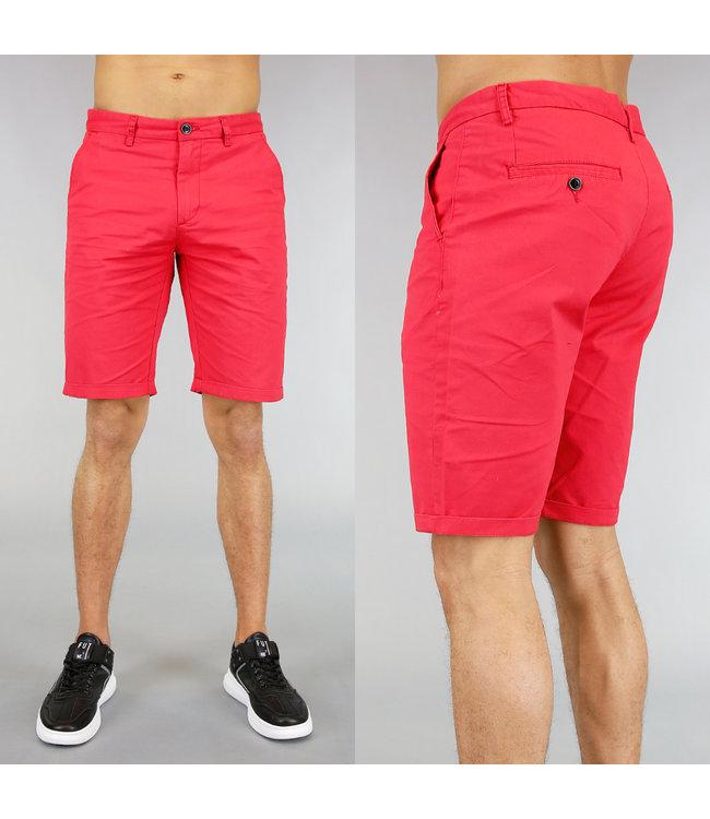 Korte Rode Heren Pantalon