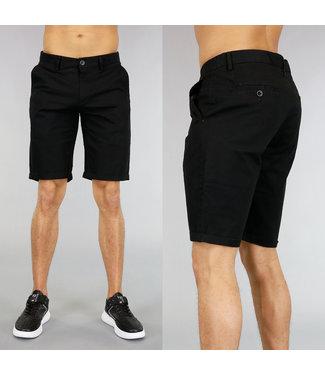 Korte Zwarte Heren Pantalon