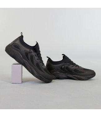 Sportieve Heren Sneakers Zwart
