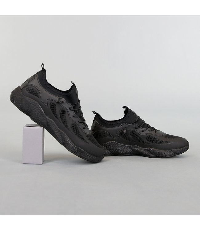 NEW! Sportieve Heren Sneakers Zwart