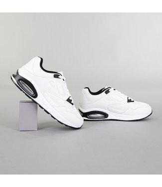 !OP=OP Grove Witte Heren Sneakers met Lucht Zool