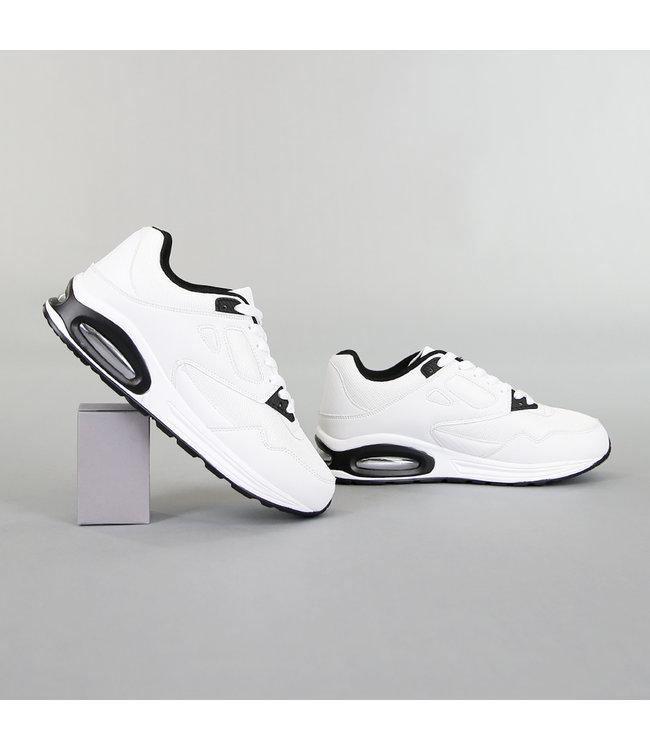 NEW! Grove Witte Heren Sneakers met Lucht Zool