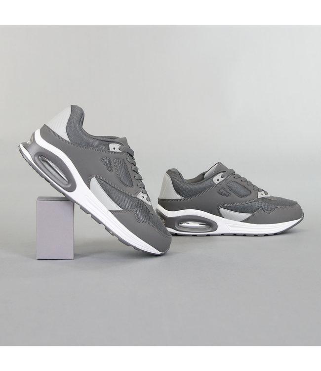 NEW! Grove Grijze Heren Sneakers met Lucht Zool