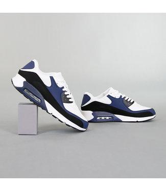 NEW! Multicolor Lederlook Heren Sneakers met Lucht Zool