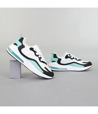 Sportieve Witte Heren Sneakers met Details