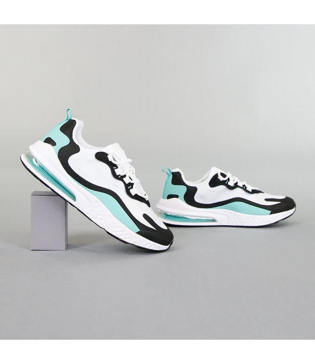 NEW! Sportieve Witte Heren Sneakers met Details