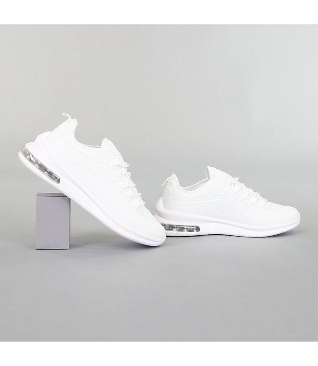 Basic Witte Heren Sneakers met Lucht Zool