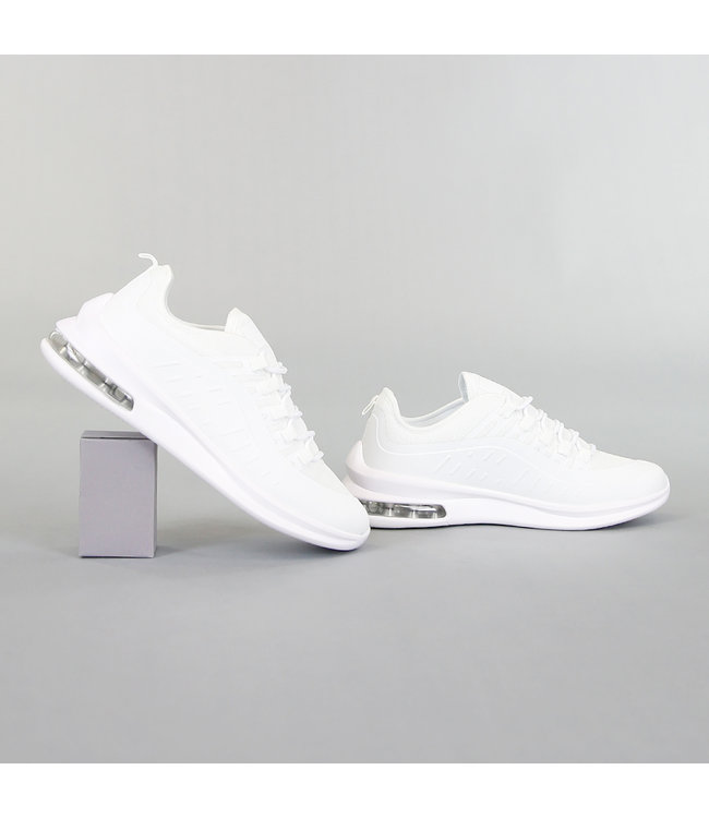 NEW! Basic Witte Heren Sneakers met Lucht Zool