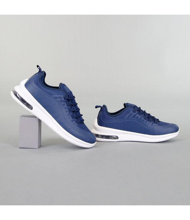 NEW! Basic Navy Heren Sneakers met Lucht Zool