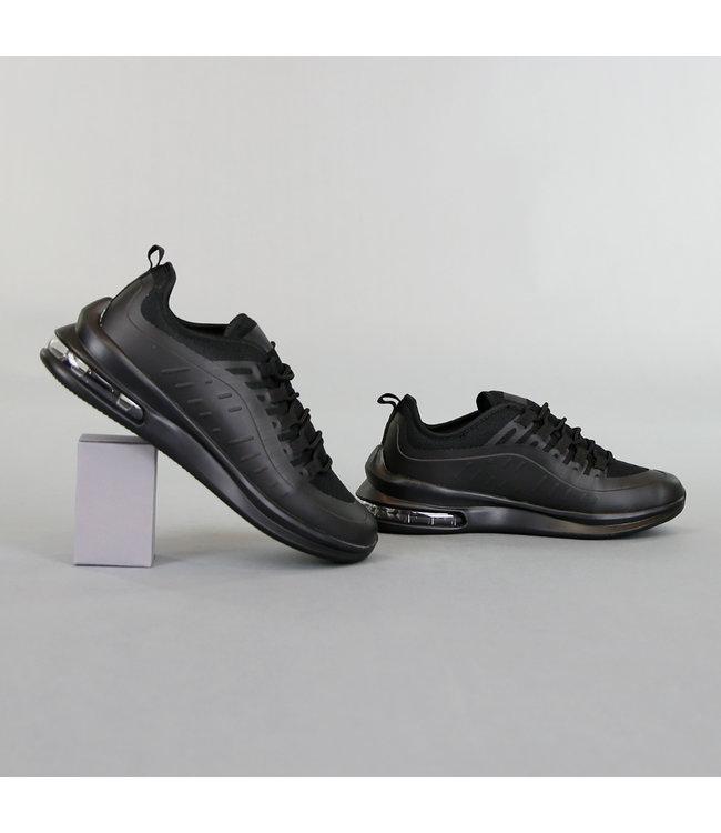 NEW! Basic Zwarte Heren Sneakers met Lucht Zool