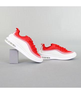 Rode Heren Sneakers met Lucht Zool