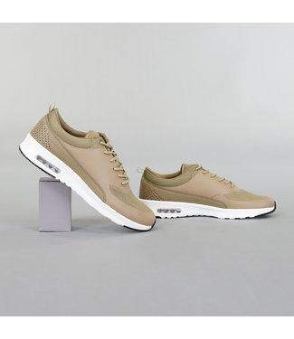 Basic Khaki Sneakers met Witte Zool