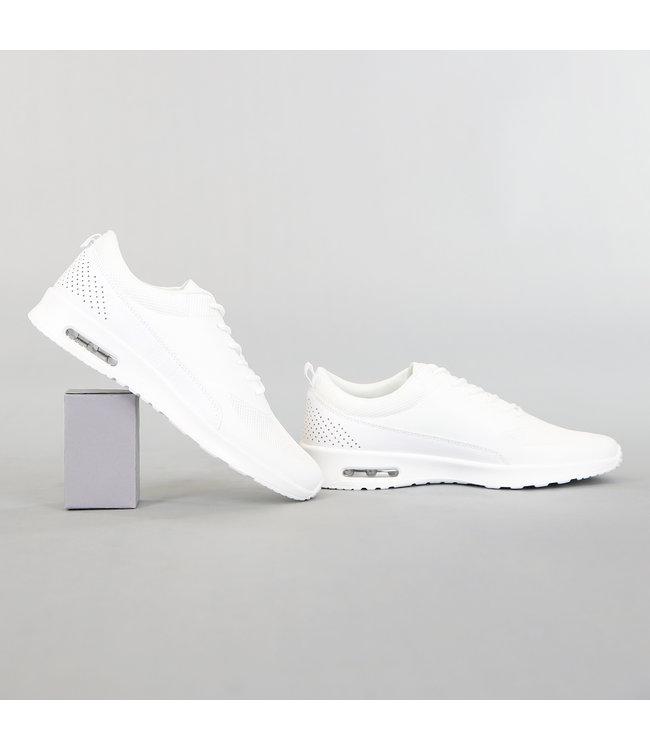 Basic Witte Sneakers met Witte Zool
