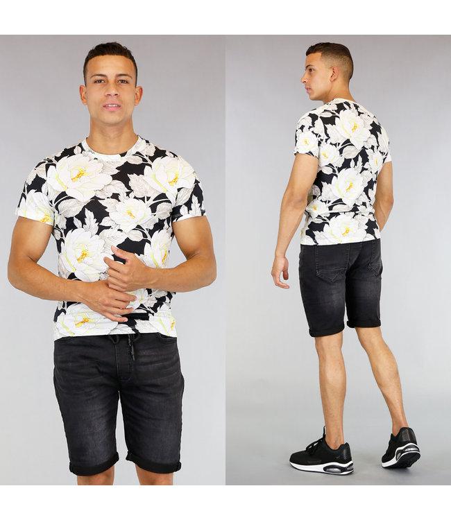 Katoenen Heren Shirt met Bloemenprint