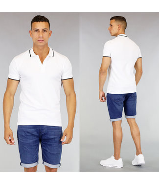 Witte Heren Zomer Polo