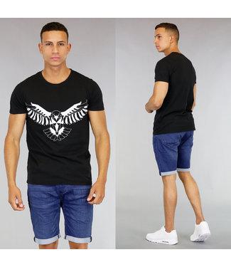 !OP=OP Zwart Heren T-Shirt met Eagle